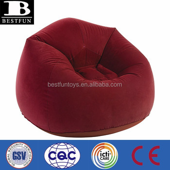air bag chair oak kitchen chairs uk promotional customized inflatable flocked pvc roamer airbag bean buy