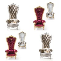 French Noble Fabric High Back Leisure Chair,Fancy Wedding ...