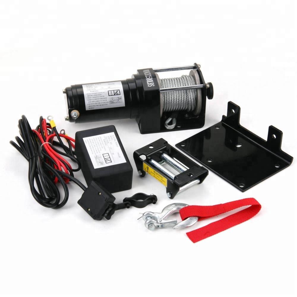 hight resolution of 12 volts atv utv electric winch 2500lb