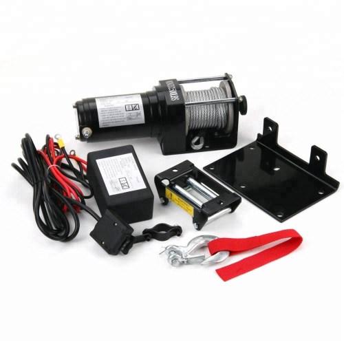 small resolution of 12 volts atv utv electric winch 2500lb