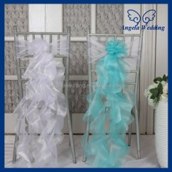 Banquet Chair Accessories Swivel Base For Recliner Ch098d Wholesale Cheap Elegant Fancy Turquoise White Organza Wedding Curly Willow Sashes ...