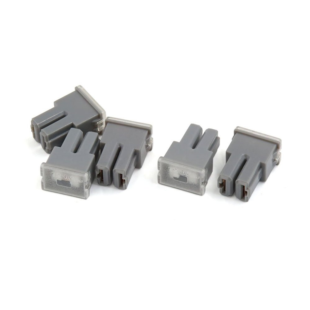 medium resolution of uxcell gray casing 120a 32v pacific female plug type cartridge pal fuses 5pcs