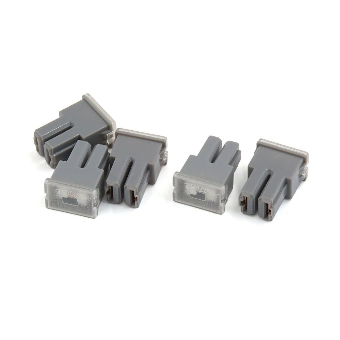 hight resolution of uxcell gray casing 120a 32v pacific female plug type cartridge pal fuses 5pcs