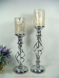 Tall Glass Pillar Candle Holders Bulk Candelabrum Candle ...
