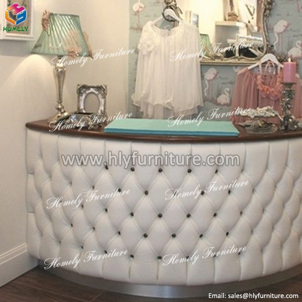Tufted Reception Desk