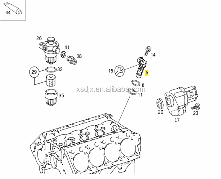 Spare Parts For Mercedes Benz Actros 1843 Diesel Fuel