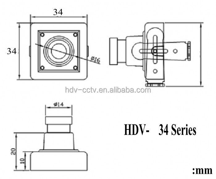 Hd 720p,0.1 Low Lux,Uvc,2.1mm Wide-angle Lens Mini Pinhole