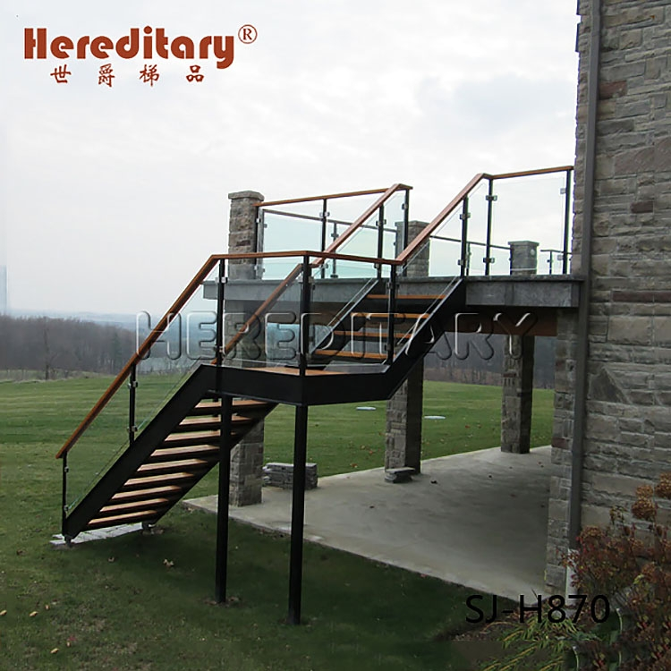 Prefab Outdoor Wood Composite Stair Steps Stainless Steel | Prefab Wooden Steps Outdoor