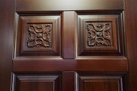 Good Price Luxury Simple Hotel Room Teak Wood Front Door