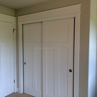 Craftsman Bypass Sliding Wardrobe And Closet Barn Door ...