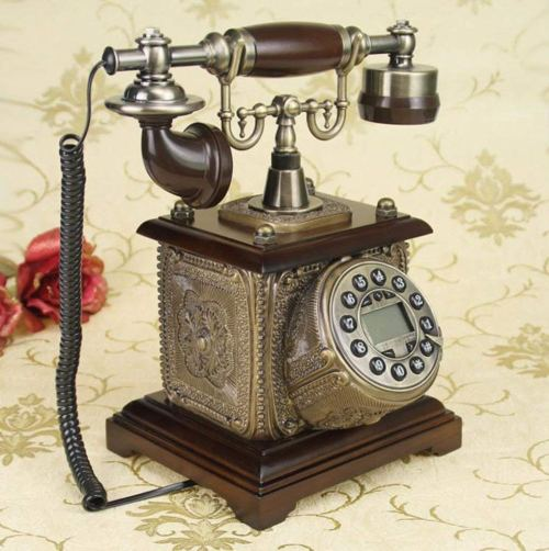 small resolution of wenbo home antique telephone european retro vintage old wooden american pastoral home phone landline