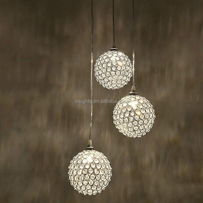Luxury Round Crystal Ball Hanging Pendant Chandelier Lighting Fixture