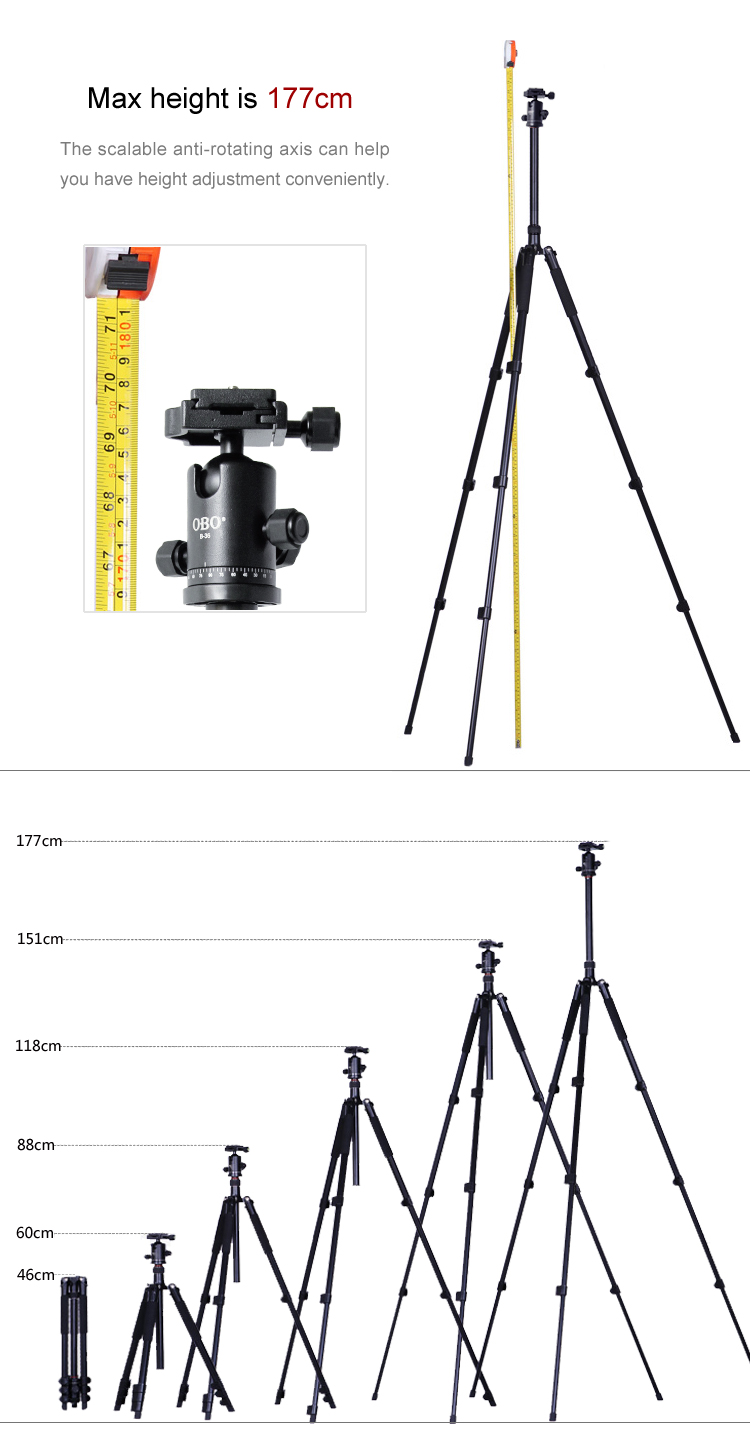 Good Quality Flexible Travel Parts Quick Set Tripod For