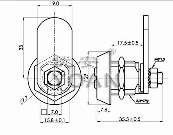 Zinc Alloy Us General Tool Box Locks Tubular Lock Pick Set