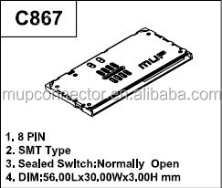 MUP-C867 smart card connector for mobile phone payment