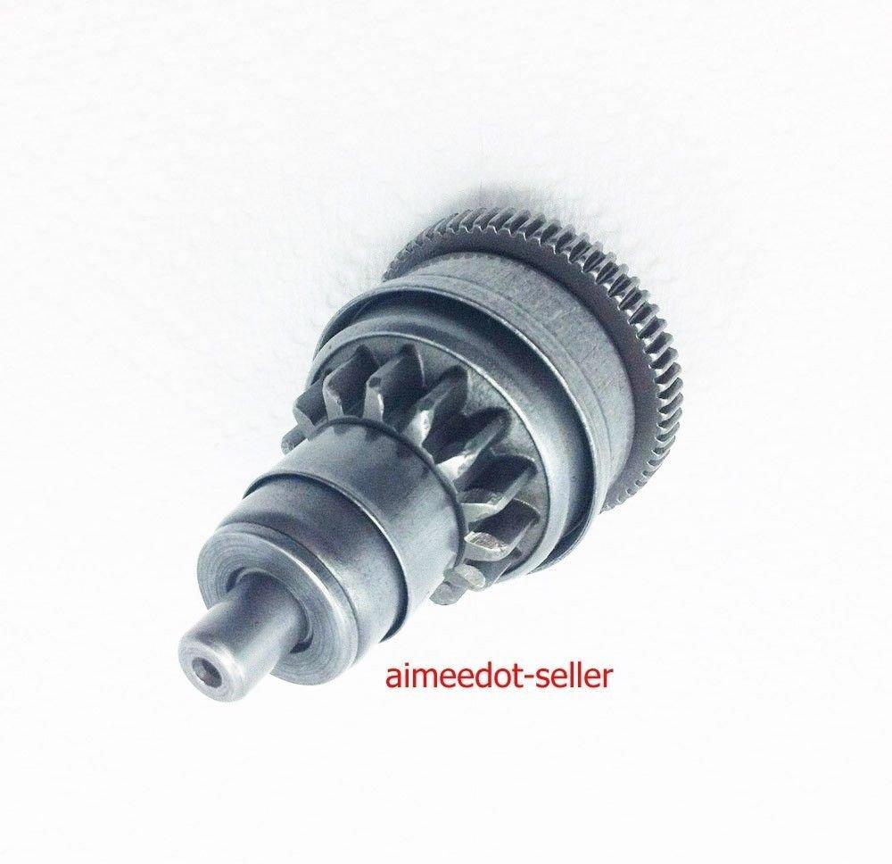 medium resolution of gy6 49cc 50cc 139qmb scooter moped atv starter motor clutch gear bendix