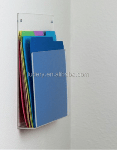 Color acrylic ultra durable pocket wall mounted file holder letter display rack organizer also rh alibaba