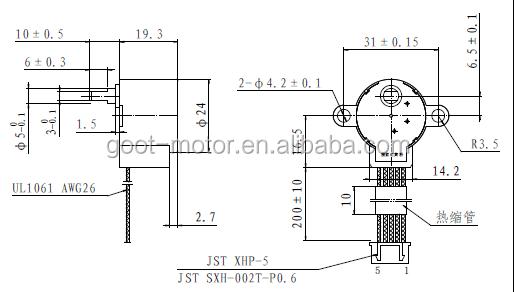 24byj48 stepper motor/ stepper gear motor, View gear motor