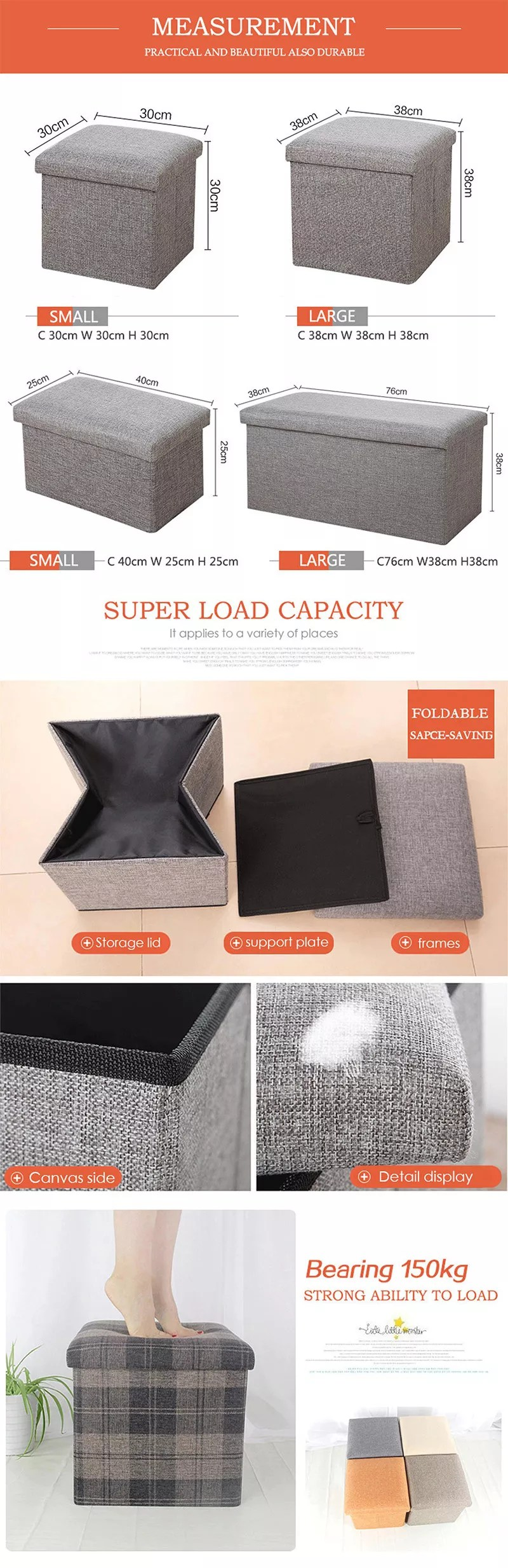 High Quality Living Room Cube Foldable Storage Stool Ottoman Buy Foldable Storage Stool Ottoman Cube Storage Stool Ottoman Living Room Storage Stool