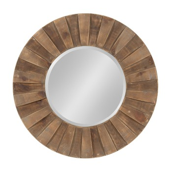 large round wooden sunburst