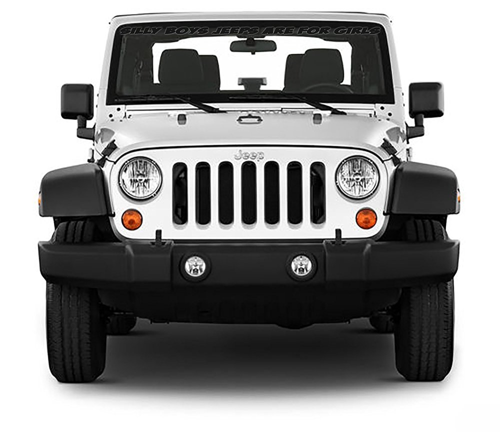 medium resolution of get quotations front windshield front window decal silly boys jeeps are for girls for jeep wrangler 40
