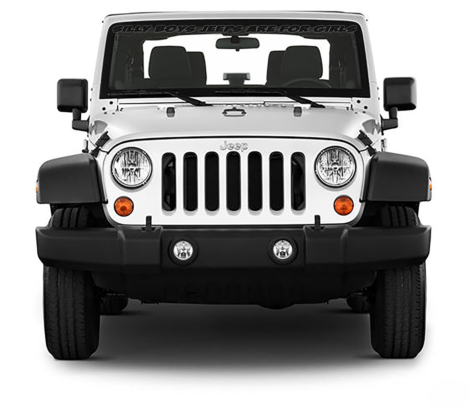 hight resolution of get quotations front windshield front window decal silly boys jeeps are for girls for jeep wrangler 40