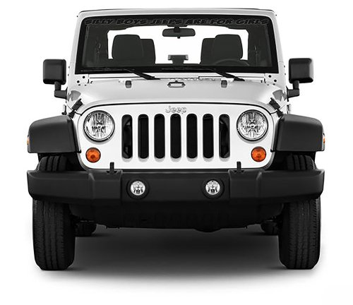 small resolution of get quotations front windshield front window decal silly boys jeeps are for girls for jeep wrangler 40