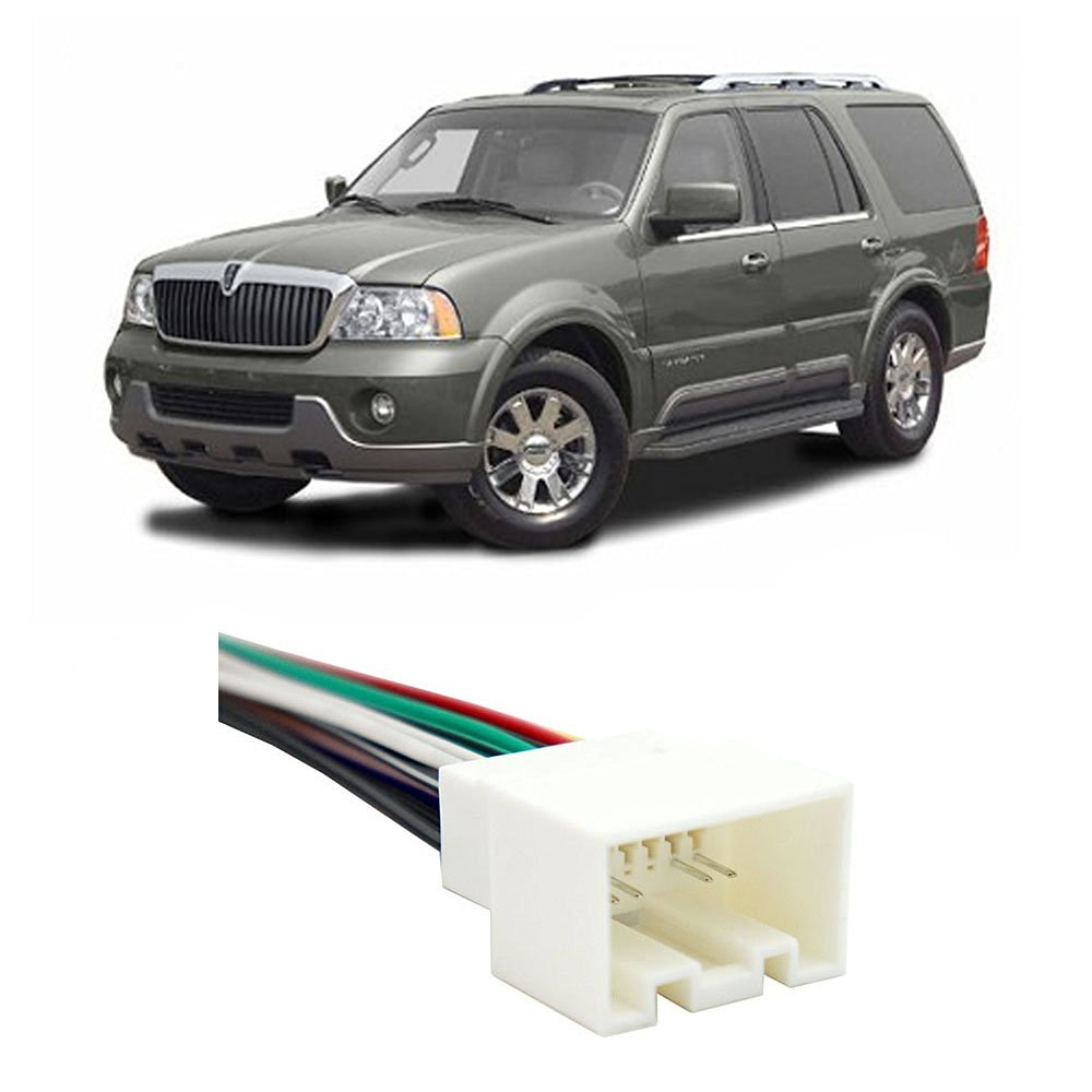 hight resolution of get quotations lincoln navigator early 2003 factory to aftermarket radio harness adapter