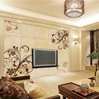 Flower Pattern Porcelain Tv Background Wall Design - Buy ...