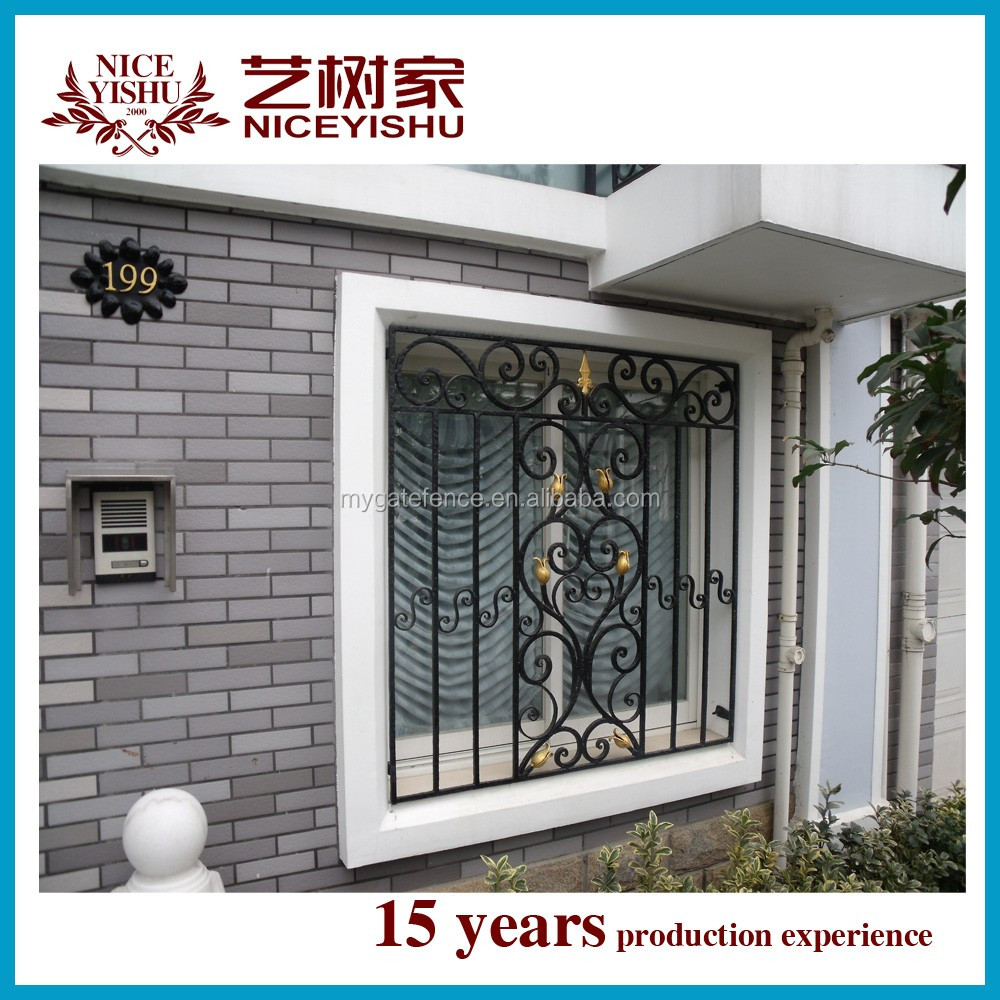 2016 Latest Window Grill Design/simple Decorative Wrought