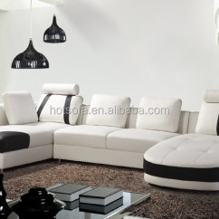 Modern Sofas Furniture Sets Queen Anne Sofa Chair U Shape Leather Design Sectional Living Room