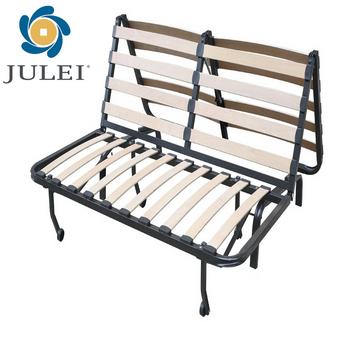 metal frame sofa bed vinyl folding mechanism view