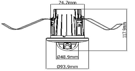 2.0mp Recessed Mount Mini Dome Surveillance Camera