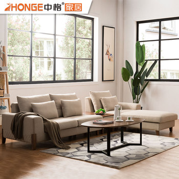 wooden sofa living room wall paint stencils modern simple style fabric home furniture corner l shaped drawing set pictures of