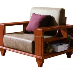 Design Of Wood Sofa Set Linen Slipcover Sleeper Simple Wooden Solid C025 Fh