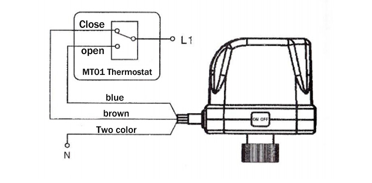 Fan Coil Electric Three-way Valve,Three-wire Two-control