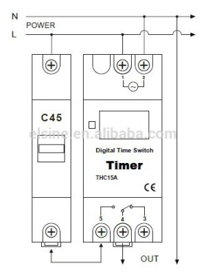 Dinrail Mounting 28onoff Weekly Programmable Timer Switch Digital Time Switch Thc15a Thc30a