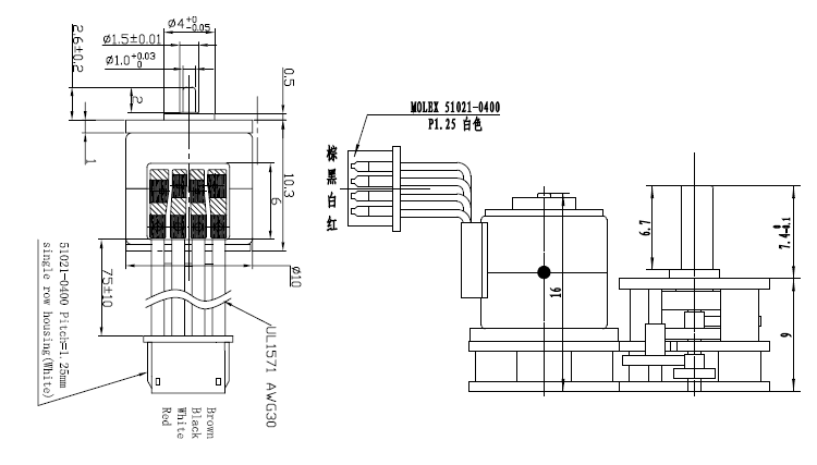 Vsm10-817g 5v Micro Geared Stepper Motor 10mm Metal Gear