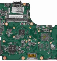 v000225130 toshiba satellite c655d laptop motherboard w amd e350 1 6ghz cpu [ 1500 x 1137 Pixel ]