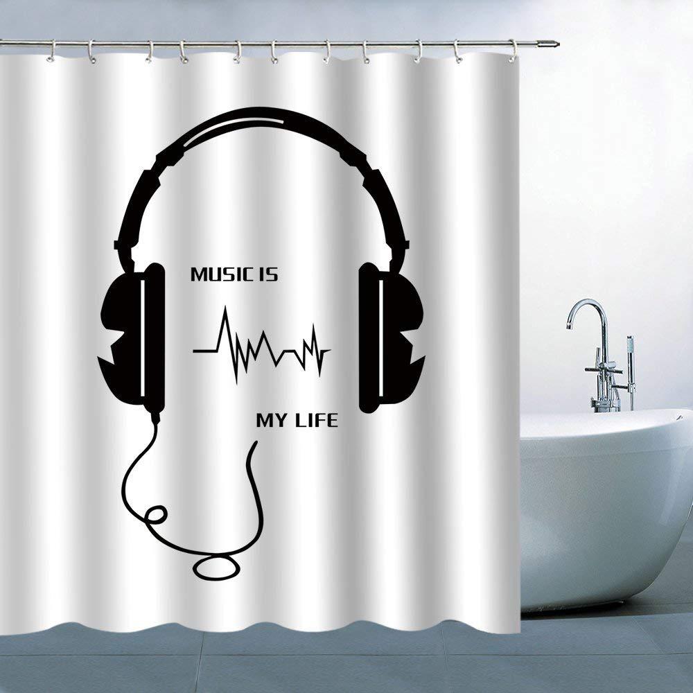 cheap music shower curtain find music