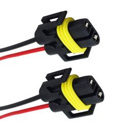 get quotations yaagoo h8 female adapter wiring harness sockets wire for headlights fog lights [ 1500 x 1500 Pixel ]