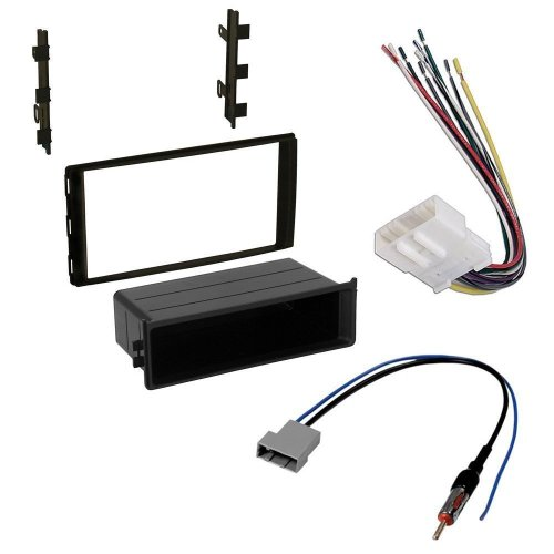 small resolution of nissan 2014 versa note car stereo dash install mounting kit wire harness radio antenna adapter