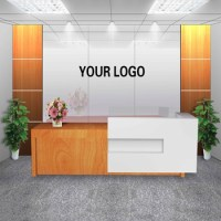 Customized Office Furniture Front Desk Design For Company