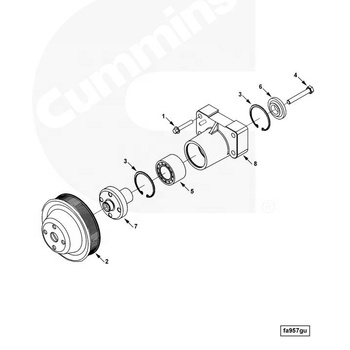Genuine Dcec Truck Parts 6ct8.3 Pulley Fan 5282159 Made In