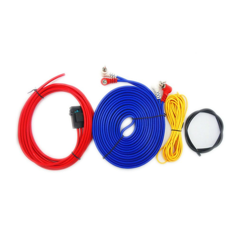 medium resolution of eaglerich 60w 4m length professional car audio wire wiring amplifier subwoofer speaker installation wires cables kit