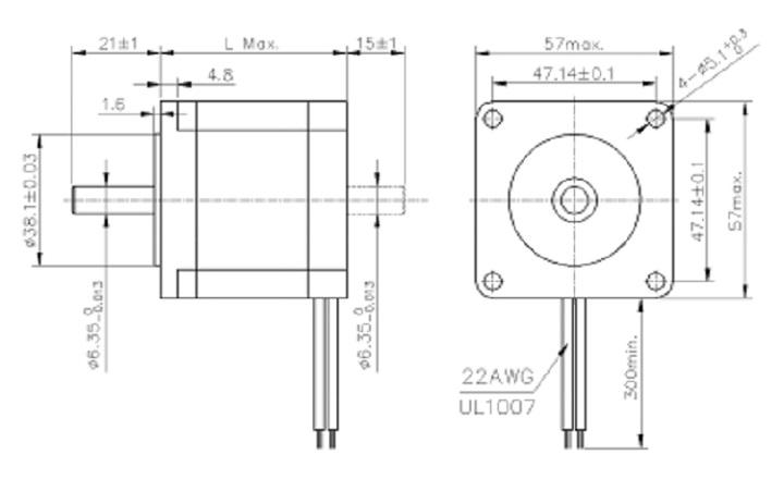 1.8 Degree 0.72n.m Nema 23 Micro Stepper Motor For China