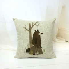 Large Square Sofa Cushions Bed And Ikea Cheap Cushion Covers Find Get Quotations Cotton Linen Pillowcase Decorative Cartoon Bear Pillow Home 45cmx45cm Free