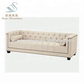 french linen tufted sofa white faux leather chesterfield classic style living room fabric set furniture