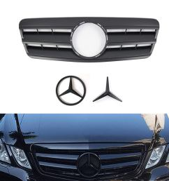 get quotations vakabva mercedes benz grill matte black grille cl style front bumper grill for 1997 2003 [ 1100 x 1100 Pixel ]