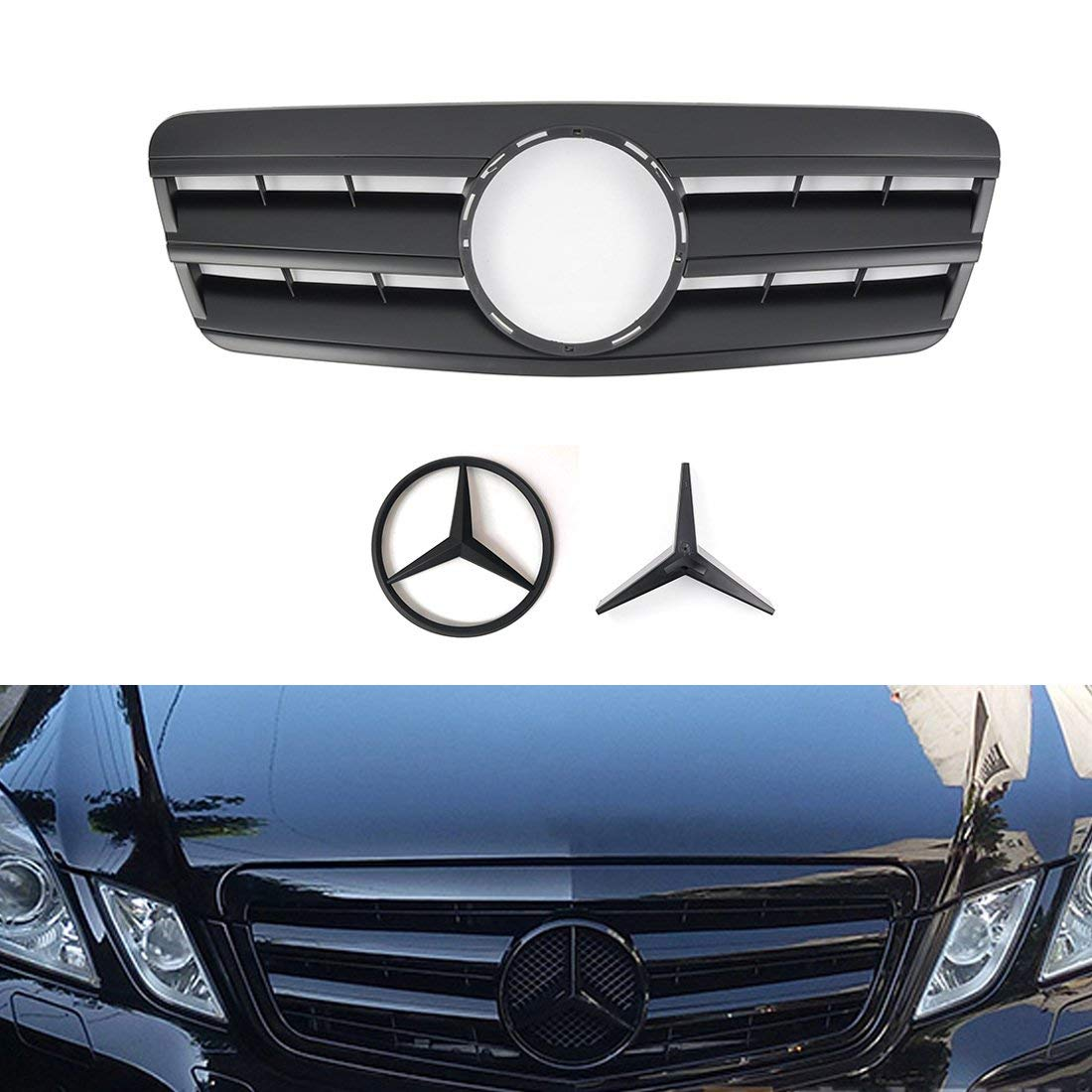 hight resolution of get quotations vakabva mercedes benz grill matte black grille cl style front bumper grill for 1997 2003